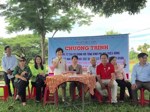 Đại sứ quán Việt Nam tại Nhật Bản hỗ trợ nạn nhân chất độc da cam tại huyện Quế Sơn, tỉnh Quảng Nam