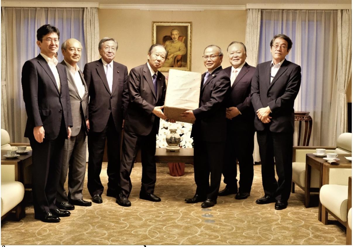 Đại sứ Vũ Hồng Nam tiếp Đoàn Lãnh đạo cấp cao của Đảng Dân chủ tự do Nhật Bản (LDP)