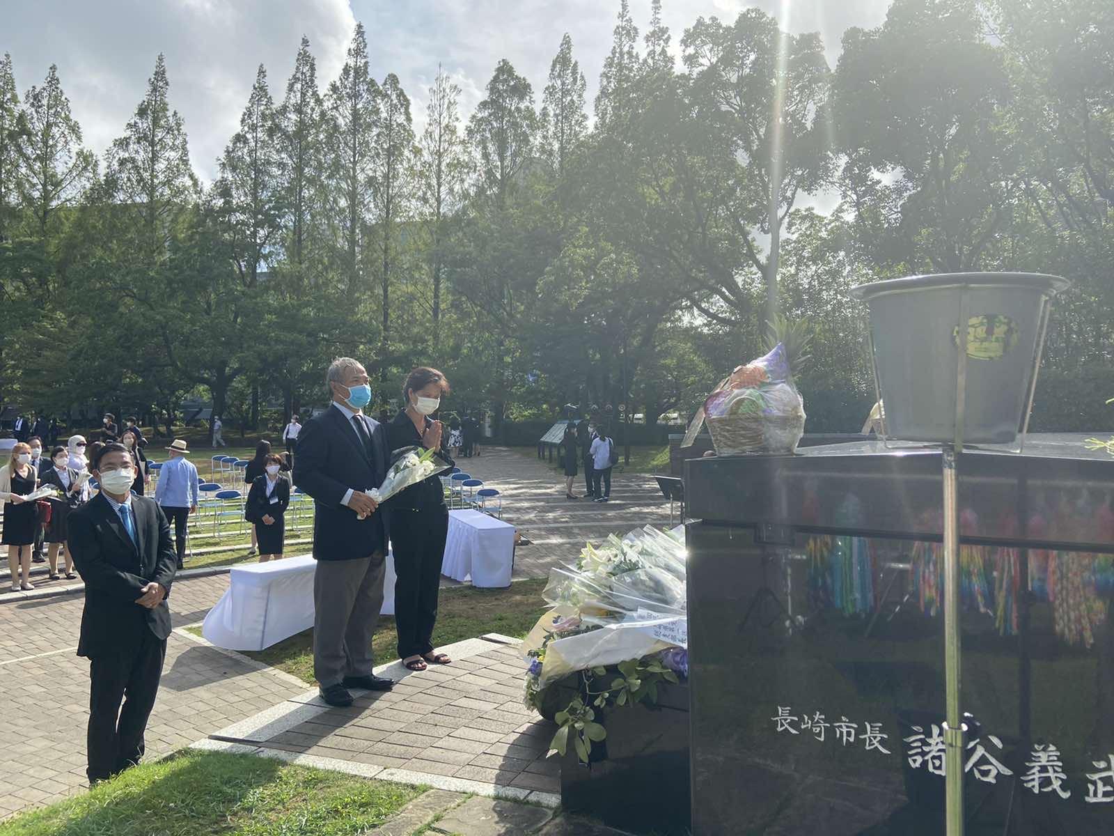 Đại sứ Vũ Hồng Nam và Phu nhân dự Lễ kỷ niệm hòa bình và tưởng niệm nạn nhân bom nguyên tử 75 năm tại Hiroshima và Nagasaki
