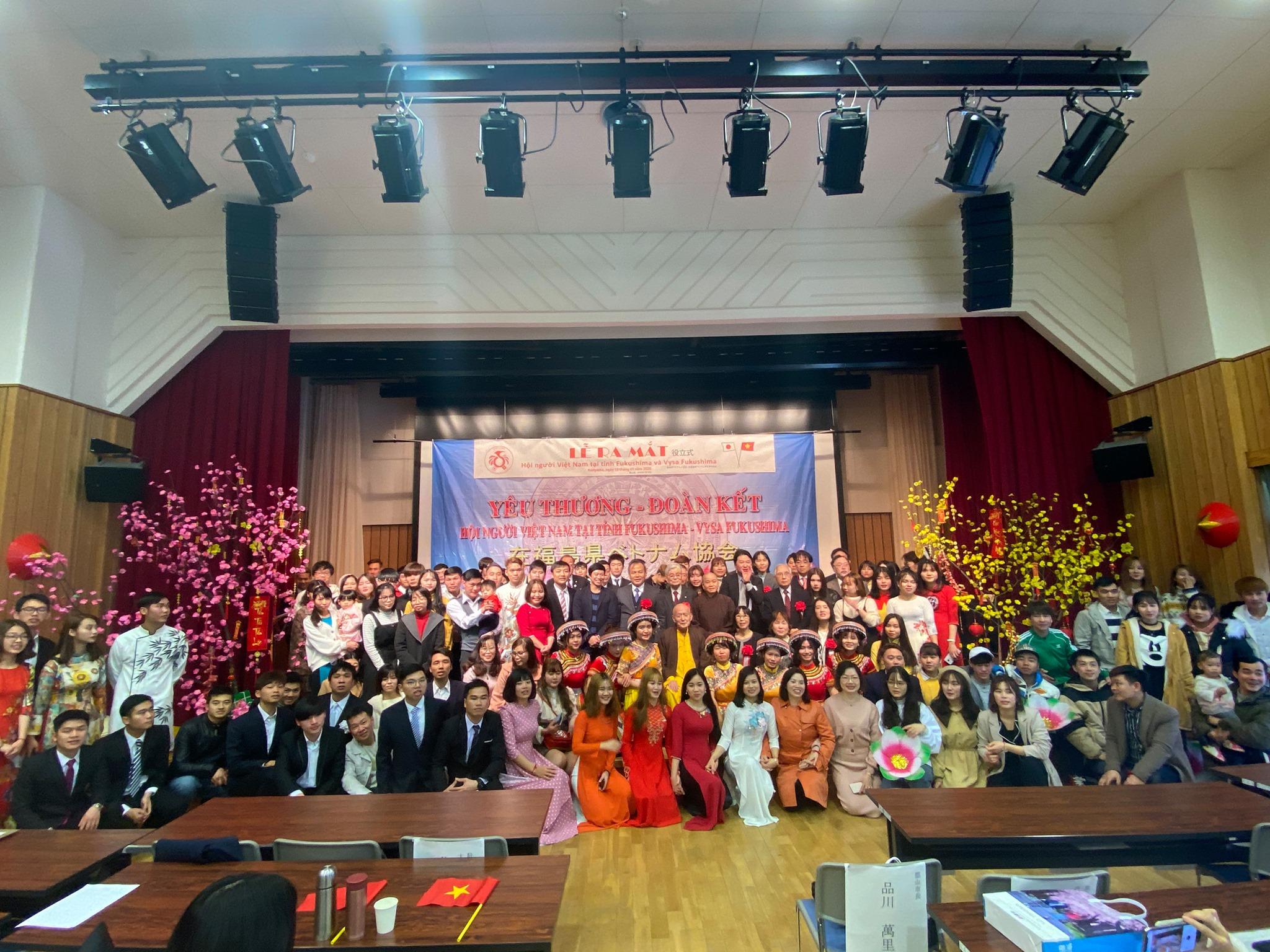 福島県ベトナム人会と宮城県仙台市ベトナム人会の設立式