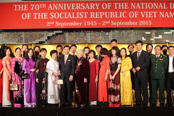 Đại sứ quán Việt Nam tại Nhật Bản tổ chức lễ kỷ niệm 70 năm Quốc khánh (02/9/1945 - 02/9/2015)