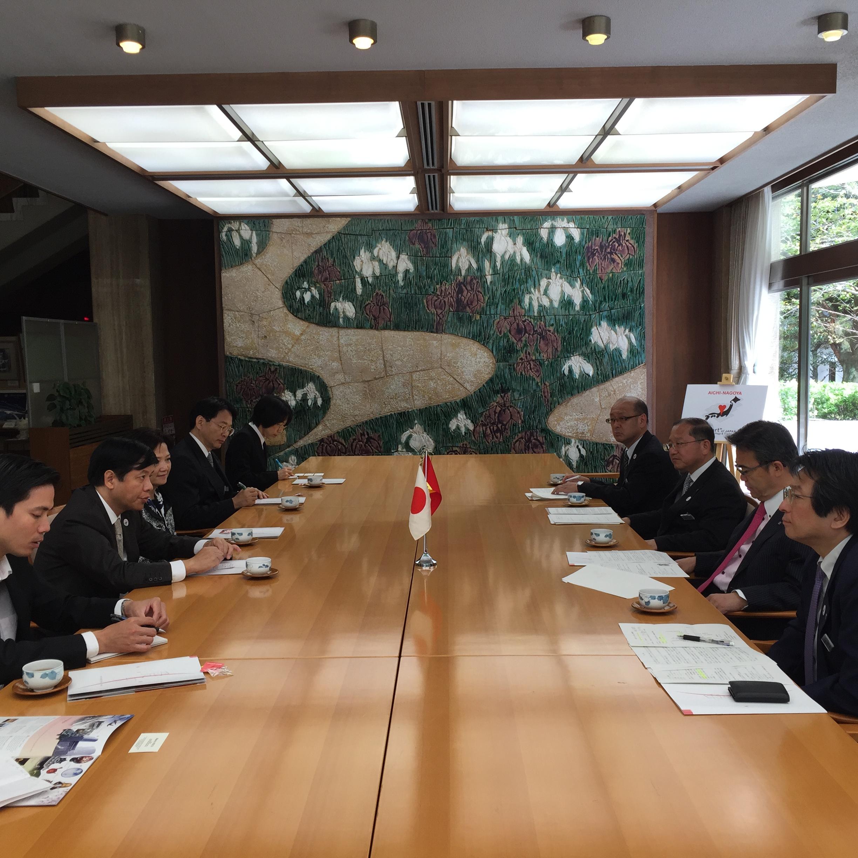 Đại sứ Nguyễn Quốc Cường thăm tỉnh Aichi