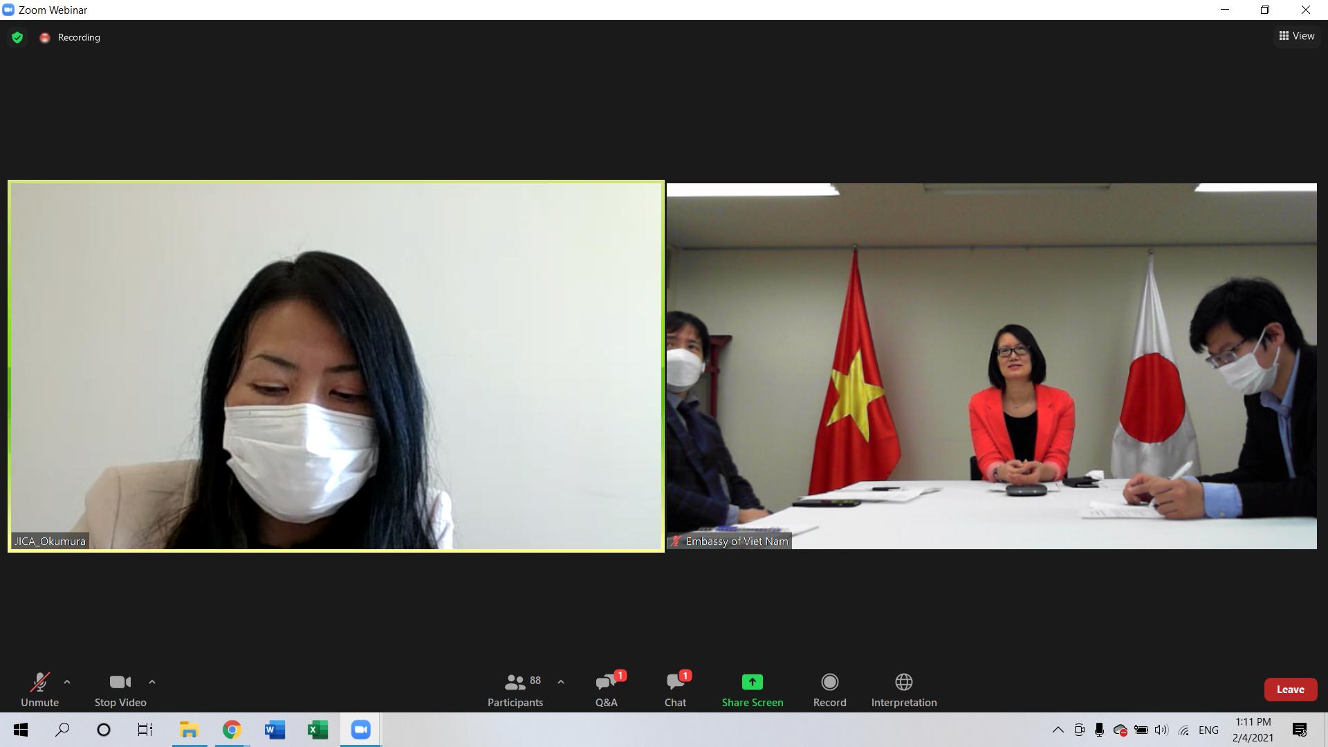 駐日ベトナム大使館共催 「コロナ禍の帰国困難ベトナム人向けキャリアセミナー」の開催(JICAとJP-MIRAIコラボ事業)