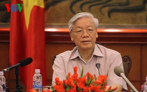 Tổng Bí thư Nguyễn Phú Trọng trả lời phỏng vấn báo chí trước chuyến thăm Nhật Bản