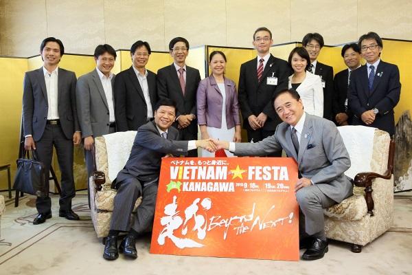 Đại sứ Nguyễn Quốc Cường thăm tỉnh Kanagawa