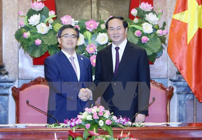 President Tran Dai Quang receives governor of Aichi province