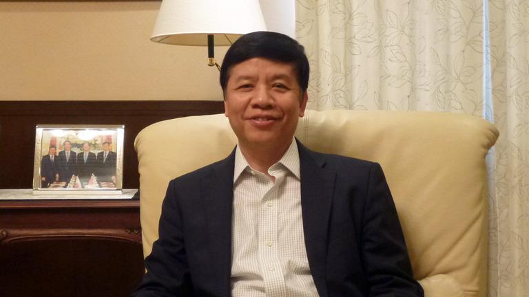 Đại sứ Nguyễn Quốc Cường trả lời phỏng vấn Đài NHK