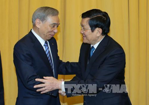 President Sang receives delegation from Japan