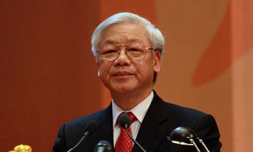 Tổng Bí thư Nguyễn Phú Trọng đến thăm và nói chuyện tại Đại sứ quán Việt Nam tại Nhật Bản