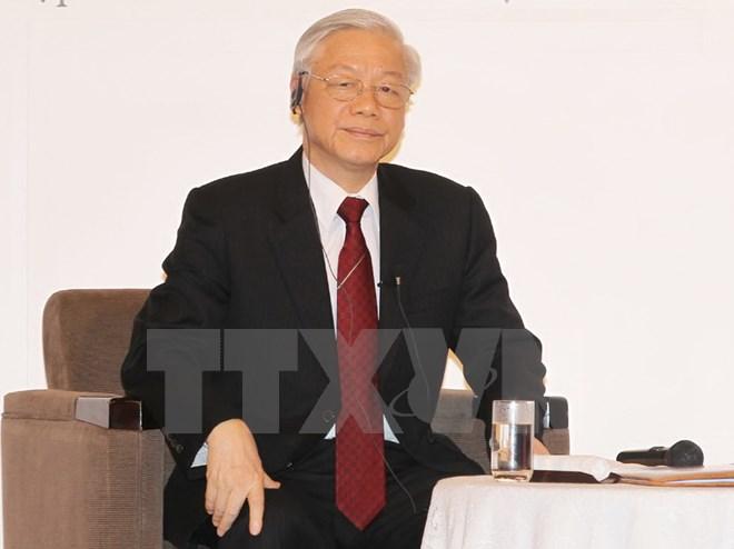 Tổng Bí thư nói chuyện với đại diện các tầng lớp xã hội Nhật Bản