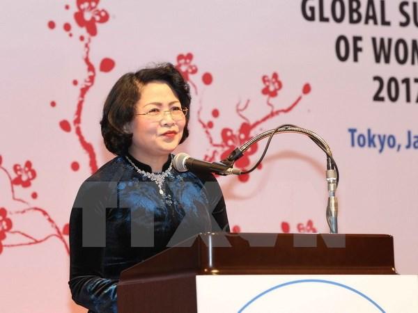 Phó chủ tịch nước dự lễ bế mạc Hội nghị thượng đỉnh phụ nữ toàn cầu